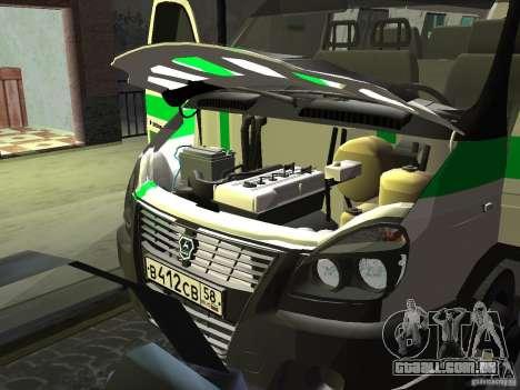 3302 gazela negócios para GTA San Andreas vista interior