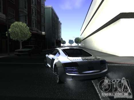 Audi R8 para GTA San Andreas esquerda vista