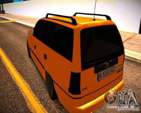 Opel Astra GSI Caravan para GTA San Andreas traseira esquerda vista
