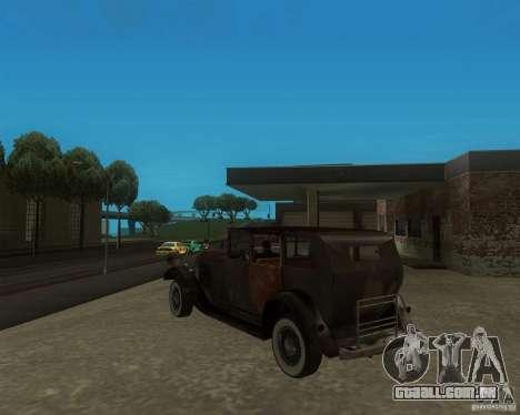 Cadillac BP para GTA San Andreas traseira esquerda vista