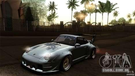 Porsche 993 RWB para GTA San Andreas vista superior