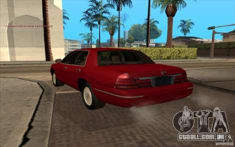 Mercury Grand Marquis 2006 para GTA San Andreas esquerda vista