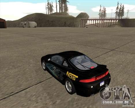 Mitsubishi Eclipse GST de NFS Carbon para GTA San Andreas esquerda vista