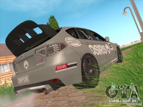 Subaru Impreza WRX STI N14 Gymkhana para GTA San Andreas vista inferior