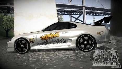 Toyota Supra MyGame Drift Team para GTA San Andreas esquerda vista