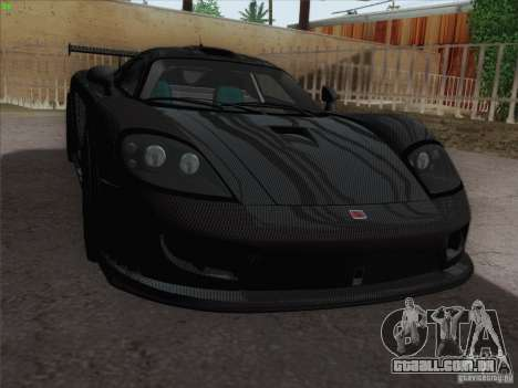 Saleen S7 Twin Turbo Competition Custom para GTA San Andreas vista interior
