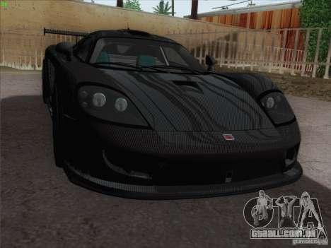 Saleen S7 Twin Turbo Competition Custom para GTA San Andreas vista interior