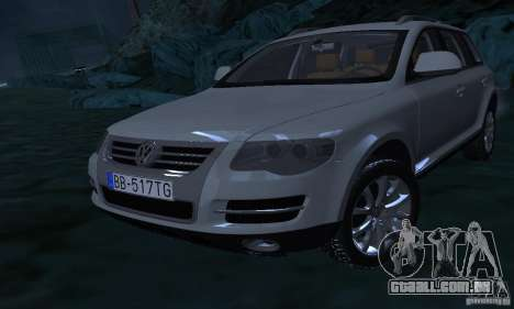 Volkswagen Touareg para GTA San Andreas vista superior