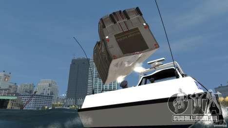 Benson boat para GTA 4 vista lateral