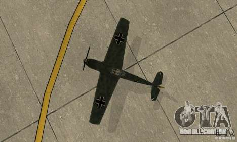 Bf-109 para GTA San Andreas vista traseira