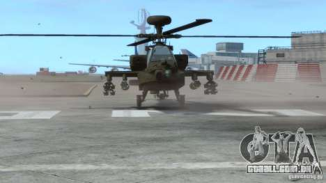 AH-64D Longbow Apache v1.0 para GTA 4 esquerda vista
