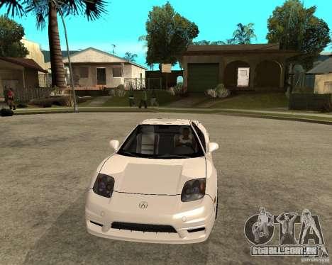 Acura/Honda NSX para GTA San Andreas vista traseira