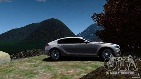 Bugatti Galibier 2009 para GTA 4 vista de volta
