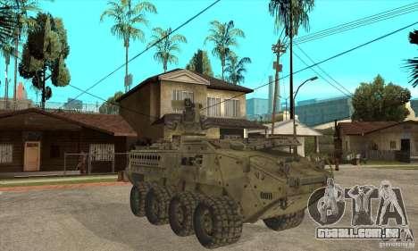 Stryker CDMW2 para GTA San Andreas vista traseira