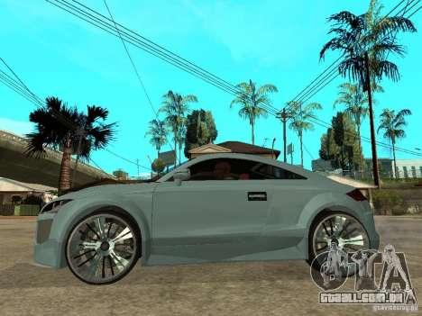 Audi TT 2007 Tuned para GTA San Andreas esquerda vista