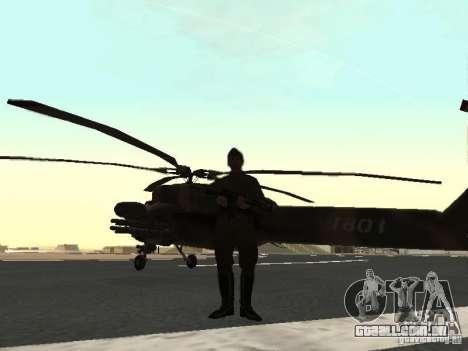 Mi-28 para GTA San Andreas vista direita