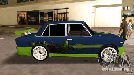 VAZ 2106 Tuning v 2.0 para GTA Vice City vista traseira esquerda