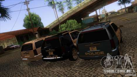 Cadillac Escalade 2007 Cop Car para GTA San Andreas vista superior