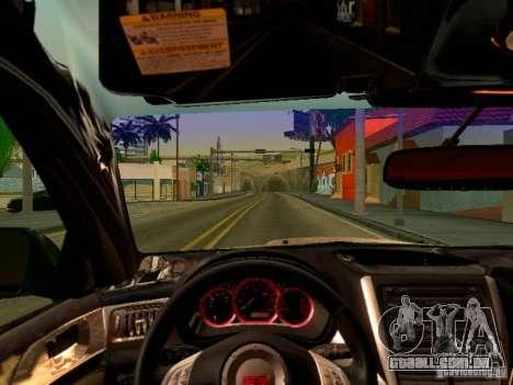 Subaru Impreza WRX STI 2008 para GTA San Andreas vista traseira