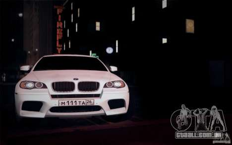 BMW X6M E71 para GTA San Andreas vista interior