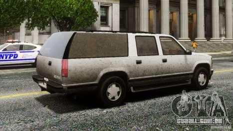 Chevrolet Suburban GMT400 v1.1 para GTA 4 traseira esquerda vista