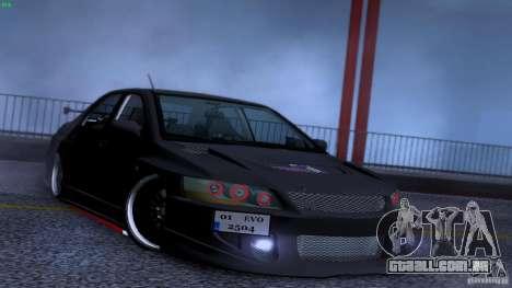 Mitsubishi Lancer Evolution 8 Drift para GTA San Andreas vista superior