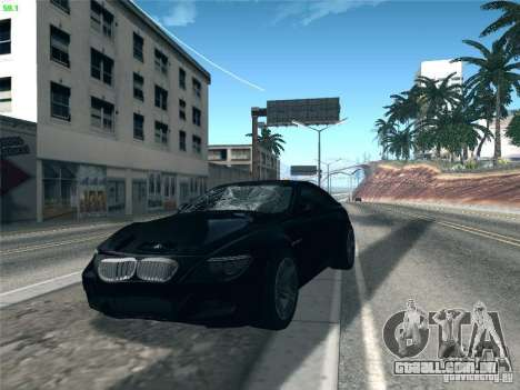 BMW M6 2010 Coupe para GTA San Andreas vista interior