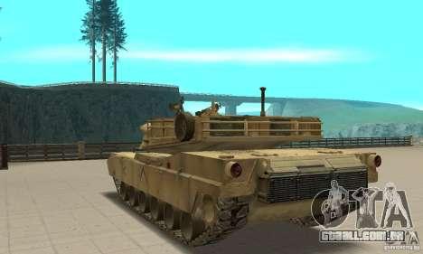 Tanque M1A2 Abrams para GTA San Andreas traseira esquerda vista