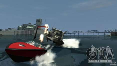 Biff boat para GTA 4 vista interior
