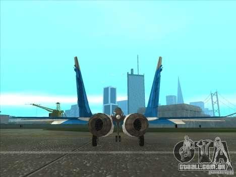 MiG-29 os andorinhões para GTA San Andreas traseira esquerda vista
