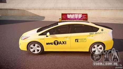 Toyota Prius NYC Taxi 2011 para GTA 4 esquerda vista