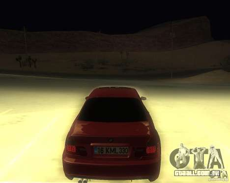 BMW 330 Ci para GTA San Andreas esquerda vista