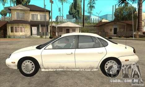 Ford Taurus 1996 para GTA San Andreas esquerda vista