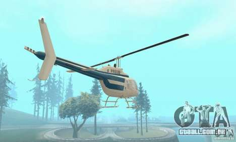 Bell 206B JetRanger II para GTA San Andreas vista traseira