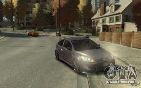 Ford Focus RS 2009 para GTA 4 vista de volta