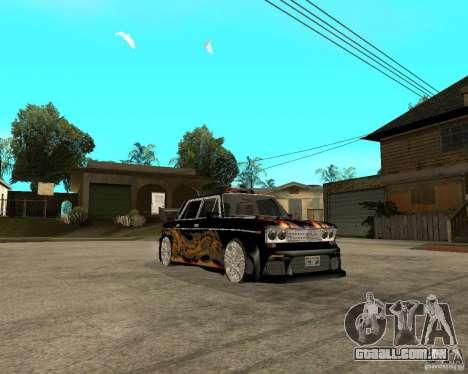 Melodia GTX VAZ 2106 para GTA San Andreas vista traseira