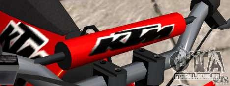 KTM EXC 450 para GTA 4 vista direita
