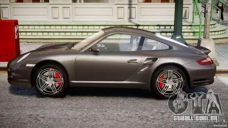 Porsche 911 Turbo para GTA 4 traseira esquerda vista
