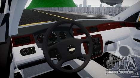 Chevrolet Impala 9C1 2012 para GTA 4 vista direita