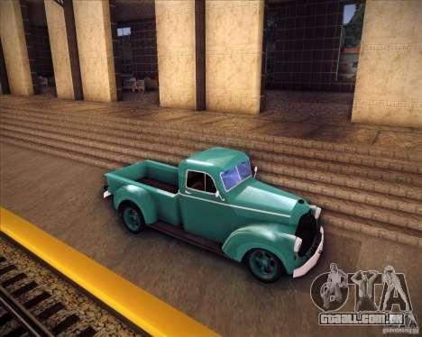 Shubert pickup para GTA San Andreas esquerda vista