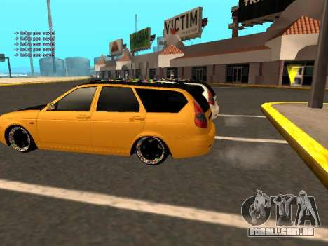 Lada Priora Hatchback para vista lateral GTA San Andreas