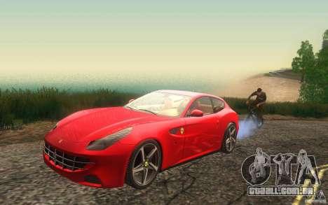 Ferrari FF para GTA San Andreas vista interior
