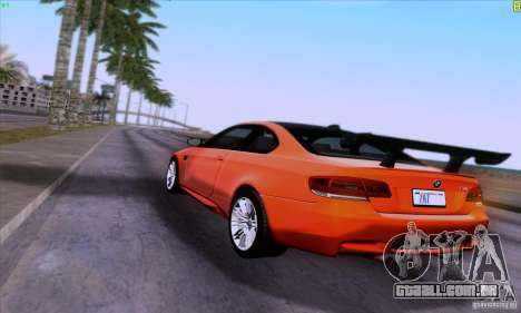 BMW M3 E92 v1.0 para vista lateral GTA San Andreas