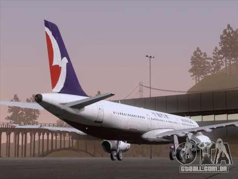 Airbus A321 Air Macau para GTA San Andreas vista direita