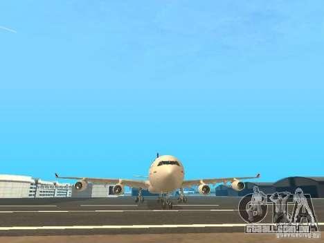 Airbus A340-300 Qantas Airlines para GTA San Andreas vista superior