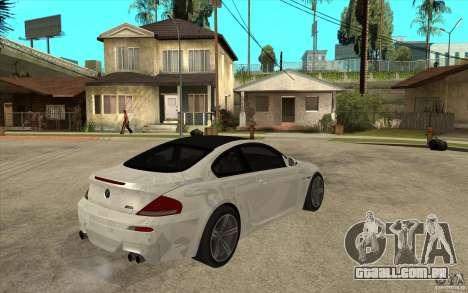 BMW M6 Coupe V 2010 para GTA San Andreas vista direita