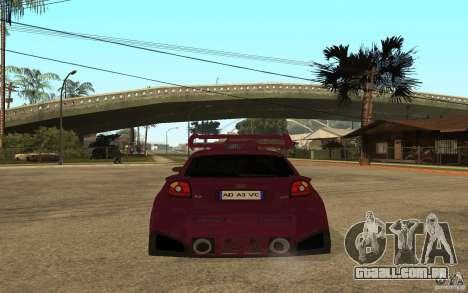 Audi A3 Tuned para GTA San Andreas traseira esquerda vista