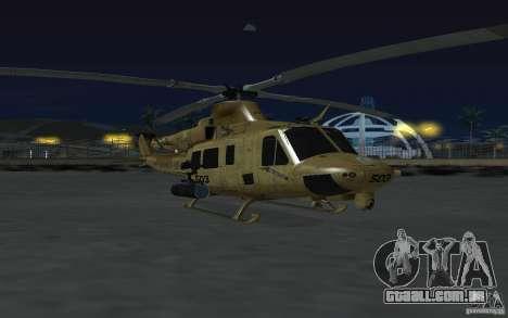 UH-1Y Venom para GTA San Andreas vista traseira