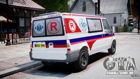 Ford Transit Polish Ambulance [ELS] para GTA 4 vista interior