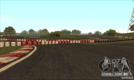 Faixa GOKART rota 2 para GTA San Andreas nono tela